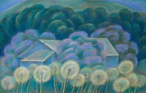 Spring. 1986. Cardboard, pastel