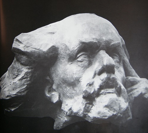 Star dream - a portrait of Konstantin Tsiolkovsky. Aluminum, 1966
