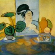 Still life with Japanese engraving. 1912