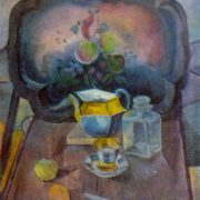 Still life with tray. 1916-1917