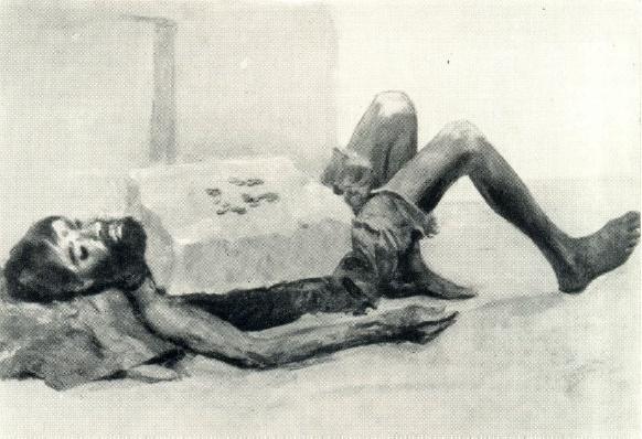 The beggar in Bombay. 1952
