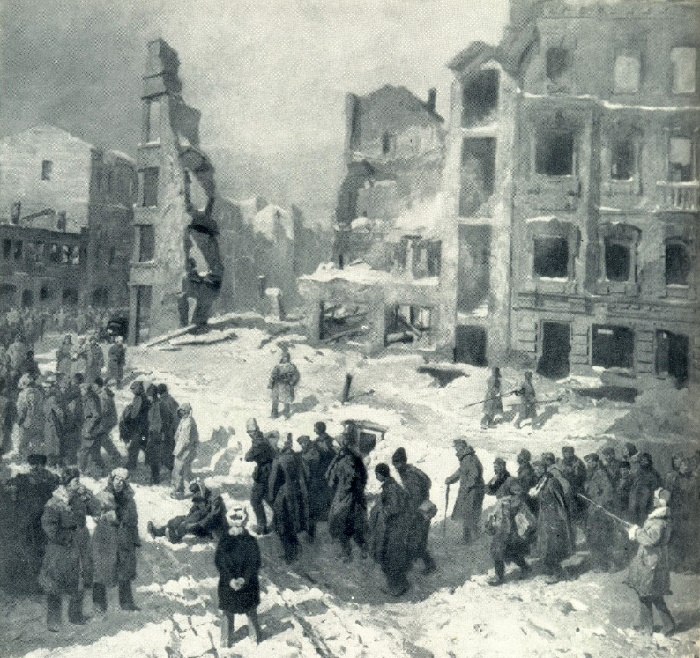 The prisoners of war in Stalingrad. 1945