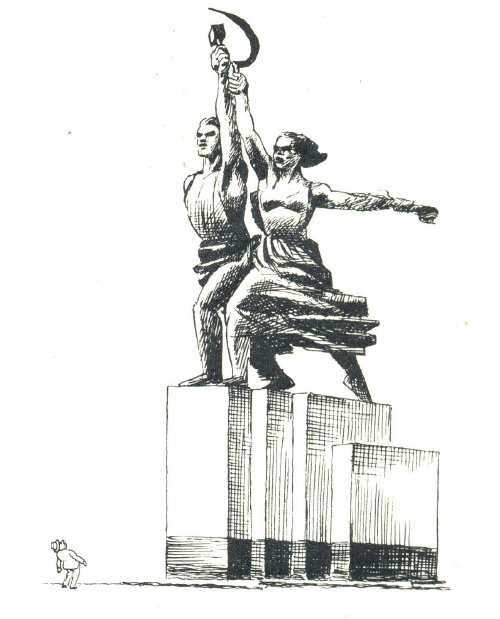 USSR by Danish cartoonist Herluf Bidstrup