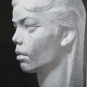 Uzbek girl. Marble. 1962