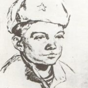 Borya Pakhomov. Pencil. February 1944