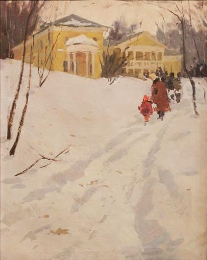 Winter in the Moscow suburb