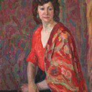 With a shawl. 1965