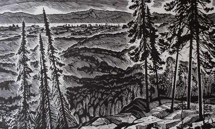 Yenisei. 1967. Lithography