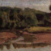 Soviet Russian landscape painter Nikolay Krymov (1884-1958)