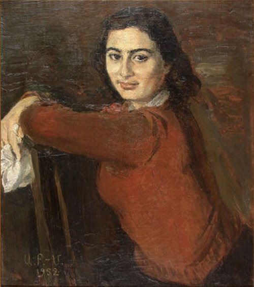 1952 portrait of a woman. Painting by Soviet Armenian artist Alexander Bazhbeuk Melikyan (1891—1966)