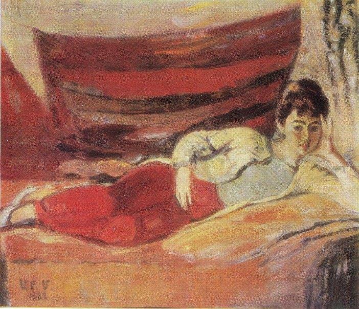 1988 painting. Woman's portrait