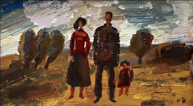 A family of three
