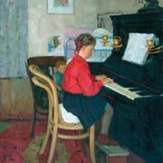 A girl at the piano