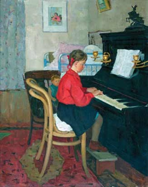 A girl at the piano