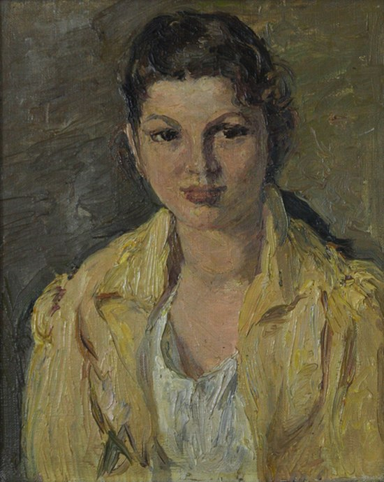 A girl in a yellow jacket
