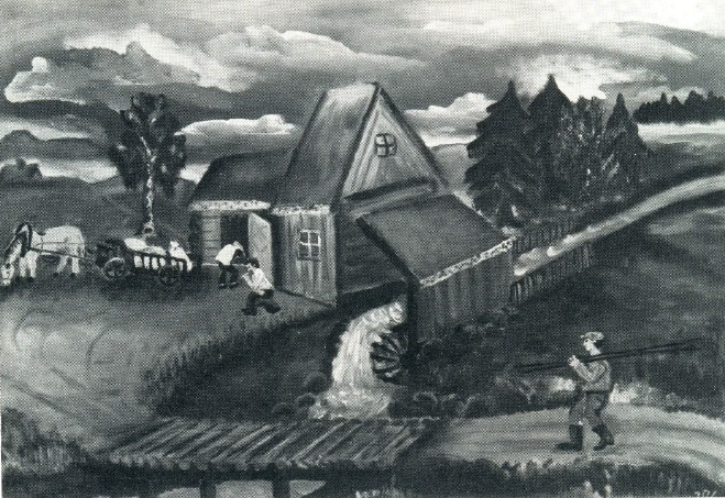 A.V. Kiakas. The old mill. 1975