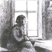 Nadia Ryzhkova. Pencil. 1972