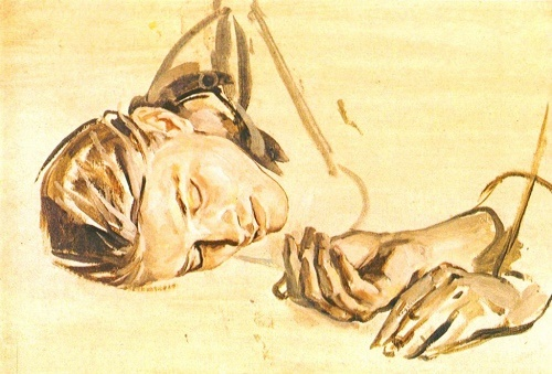 Sketch for the painting 'Summer'. Tempera. 1981