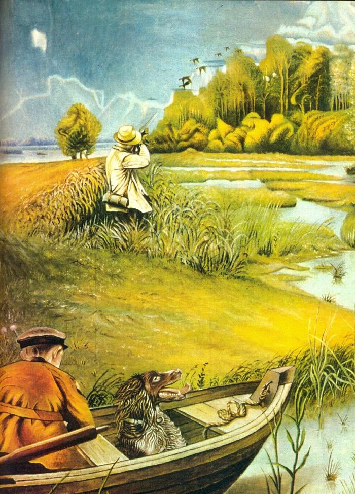 At the hunt. S.T. Kosenko. 1975