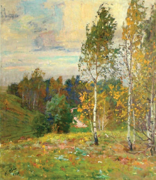Autumn has come. Oil, canvas. 1984