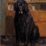 Baikal (black dog). 1965. Oil on cardboard