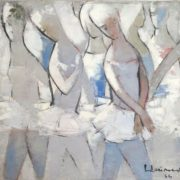 Ballerinas. 1966. Oil, canvas