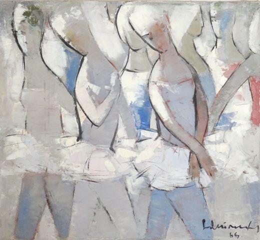 Ballerinas. 1966. Oil, canvas