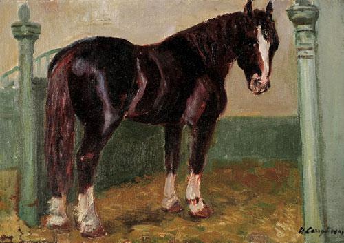 Bonya. Circus horse. 1975. Oil on canvas, oil on cardboard