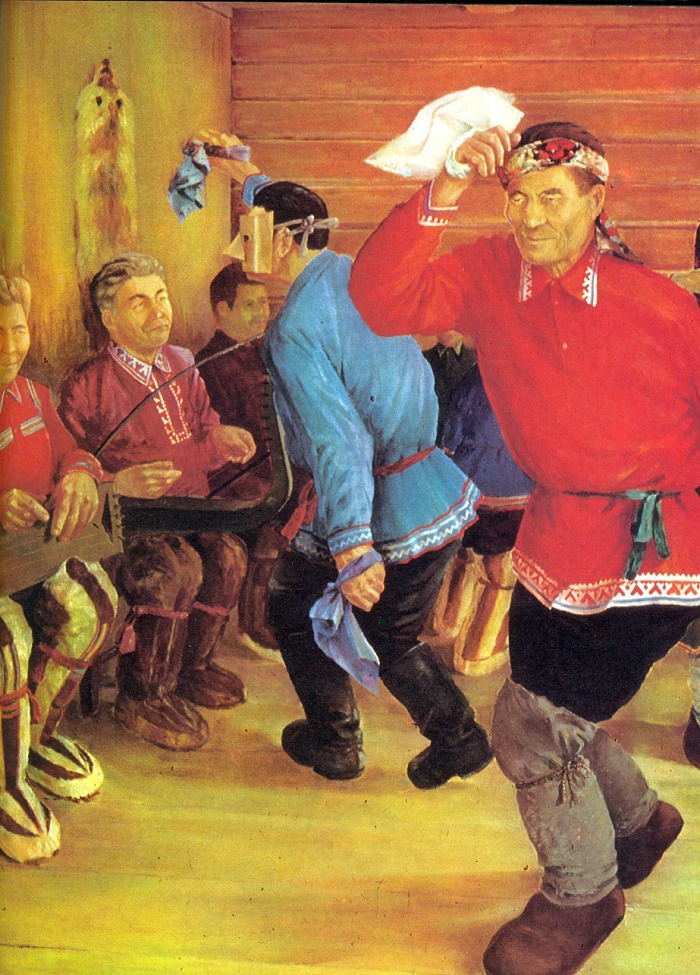 Celebration. M.A. Tibetev. 1976