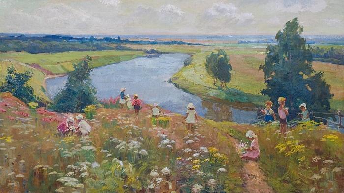 Children in summer. 1960