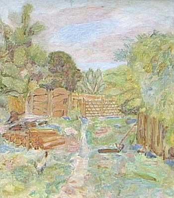 Courtyard of Matusei Ileana, oil. 1976