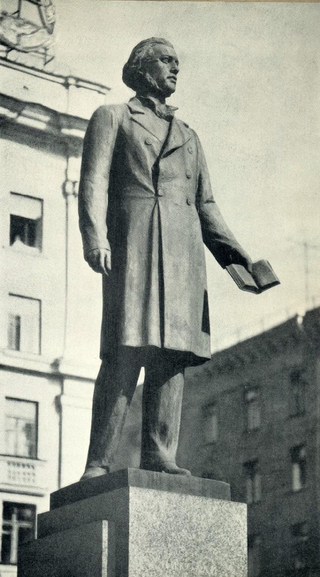 Dobrolyubov monument. Bronze, granite. 1959