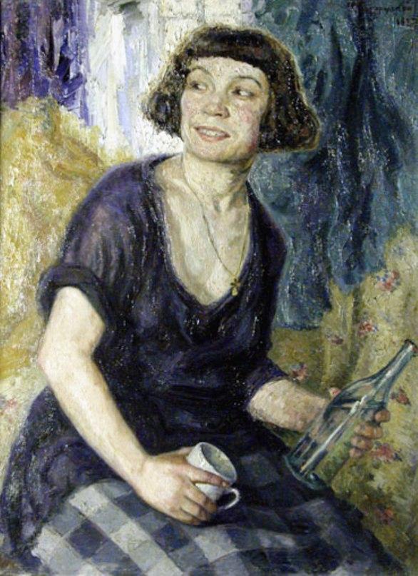 Drunk woman. 1927