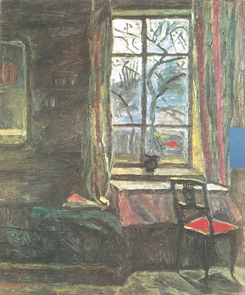 Autumn interior. Oil. 1986