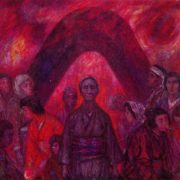 Hiroshima. 1965. Oil on canvas. The State Art Museum of the Estonian SSR. Tallinn
