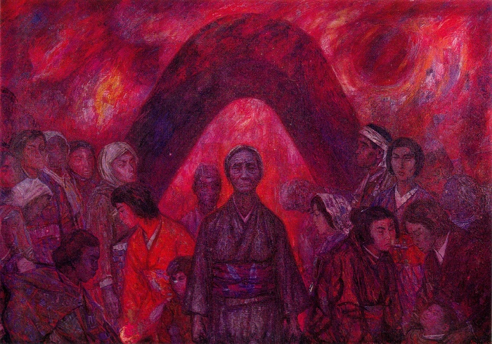 Hiroshima. 1965. Oil on canvas. The State Art Museum of the Estonian SSR. Tallinn