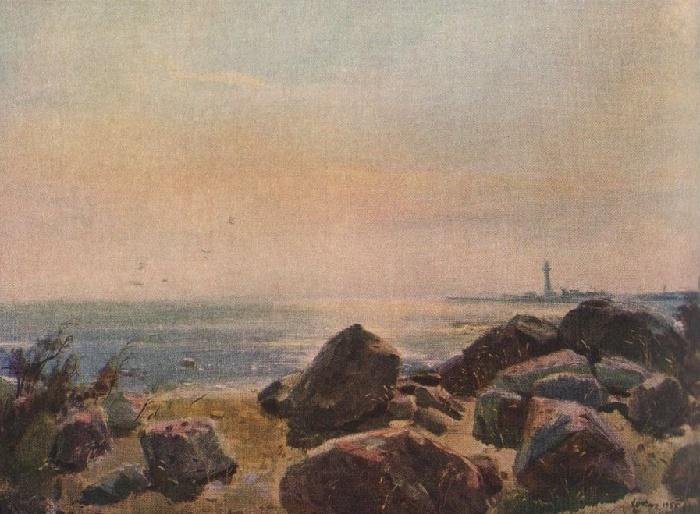 Evening seaside in Estonia