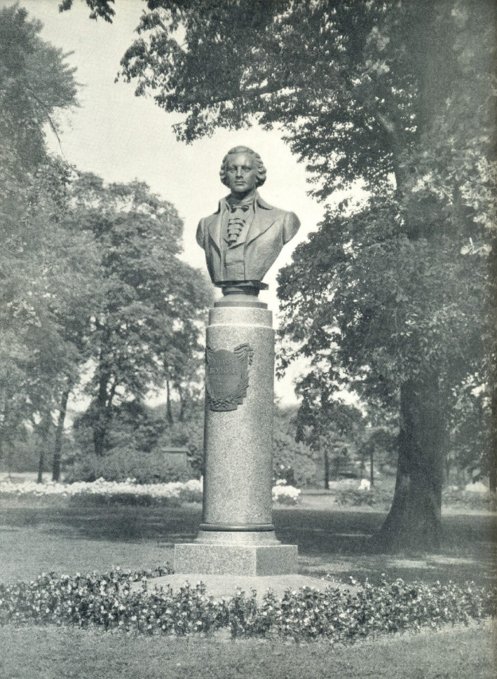 F. Shubin monument in Leningrad. Bronze, granite. 1959