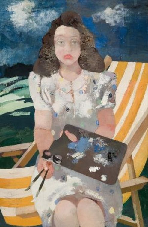 Felicita with palette. 1950. Oil on canvas