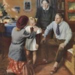 1950-1980 USSR home interior in painting