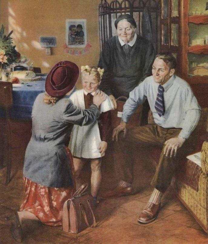 First-grader. 1950