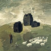 Flock of sheep. 1981