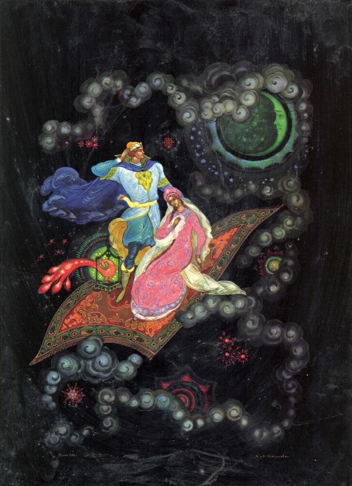 Flying carpet, fairy tale