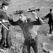 Hands up. German soldiers. WWII in Crimea