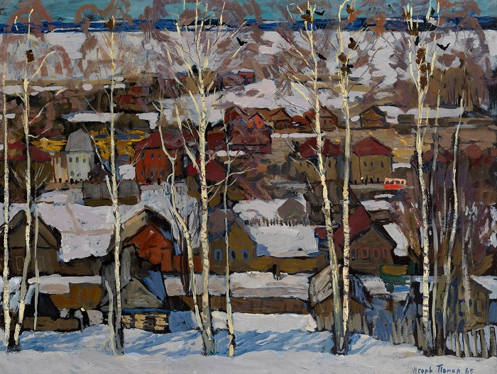 Rooks. View from Shemyakin hill in Galich. 1965