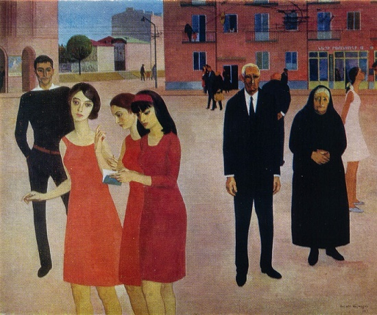 Soviet Armenian painter Sarkis Muradyan (7 February 1927 - 12 July 2007)