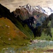 In the mountains, landscape