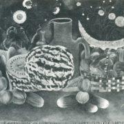 K.K. Kadirov. Still life with water-melon. 1976