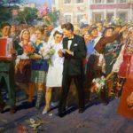 Soviet Ukrainian artist Mikhail Ryasnyansky 1926-2003