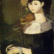 Lady in a hat. 1966
